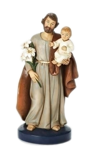 Dashboard Statue St Joseph 4 inch Resin Painted