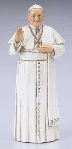 Statue Pope Francis 3.5 inch Resin Painted Boxed