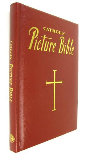 Catholic Picture Bible Padded Leather Burgundy