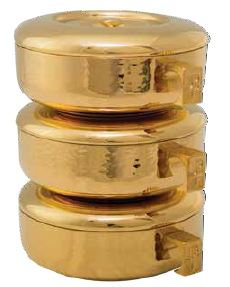 One Stacking Ciborium Hammered Gold Plated Holds 275 Hosts