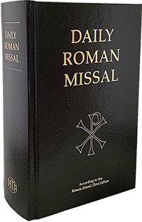 Daily Roman Missal Regular Print Hardcover Black