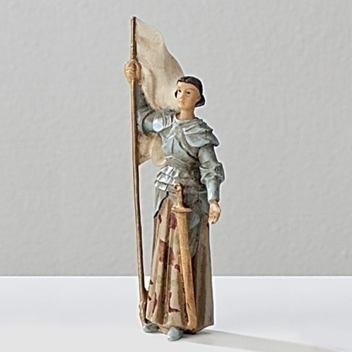 Statue St Joan of Arc 3.5 inch Resin Painted Boxed