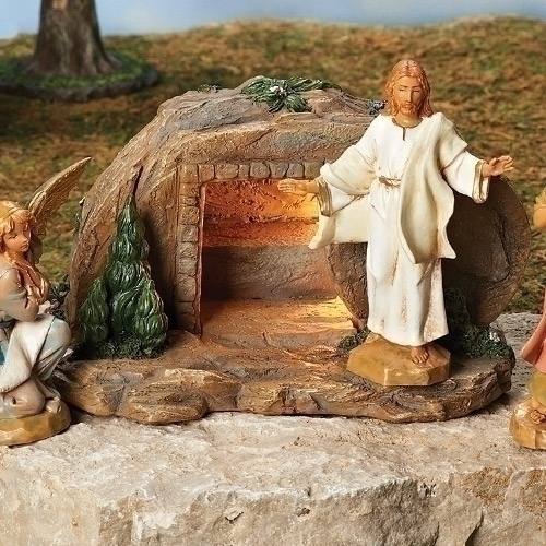 "Fontanini 5"" Scale Life of Christ Resurrection Scene LED"