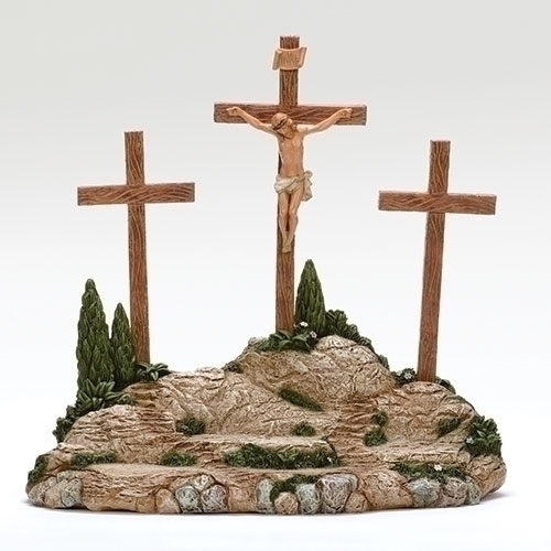 "Fontanini 5"" Scale Life of Christ Crucifixion Scene 4 Pieces"