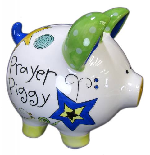 "Piggy Bank ""Prayer Piggy"" Ceramic"