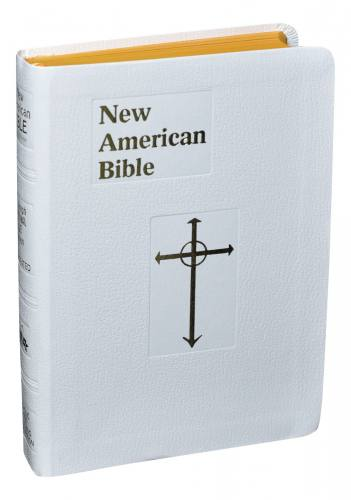 New American Bible St Joseph Personal Imitation Leather White
