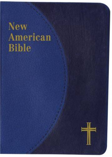 New American Bible St Joseph Personal Small Print Dura-Lux Blue