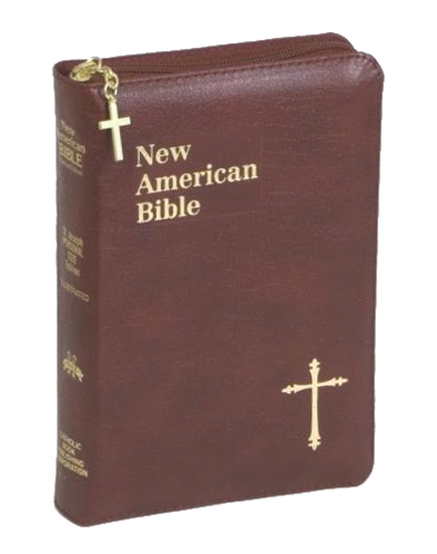 New American Bible St Joseph Personal Small Print Leather Red