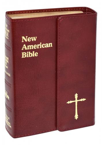 New American Bible St Joseph Personal Gift Bonded Leather Red