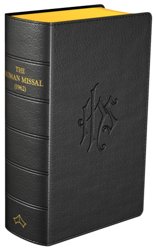 Daily Missal 1962 Regular Print Leather Black