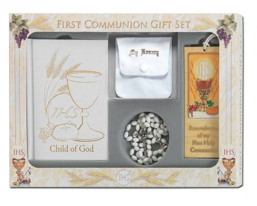 First Communion Gift Set Child of God Edition White