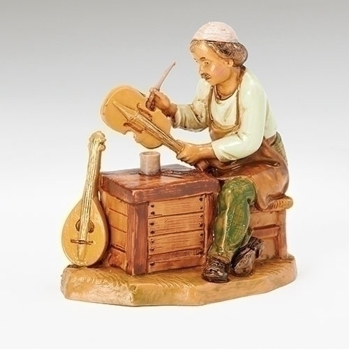 "Fontanini 5"" Scale Nativity Zimri The Instrument Maker"