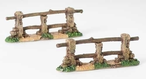 "Fontanini 5"" Scale Village Fence 2 Pieces"