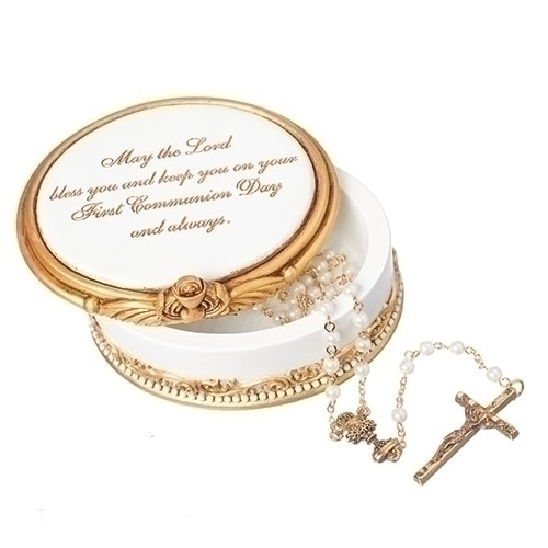 Rosary Box First Communion Blessings Resin