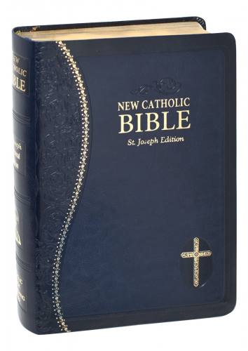 New Catholic Bible St Joseph Regular Print Dura-Lux Blue