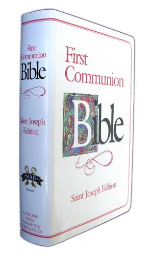 New American Bible St Joseph Medium Regular Print Communion Pink