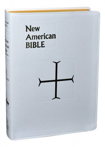 New American Bible St Joseph Full Regular Print Im Leather White
