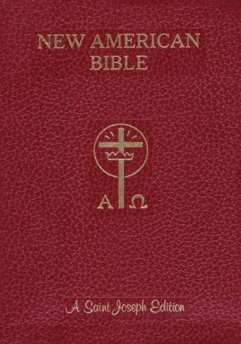 New American Bible St Joseph Full Large Print Imit Leather Red