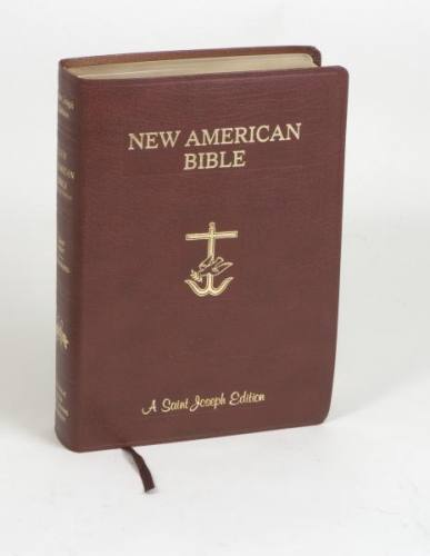 New American Bible St Joseph Full Large Print Leather Burgundy