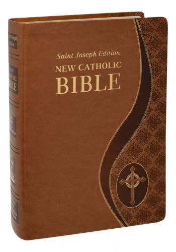 New Catholic Bible St Joseph Giant Type Dura-Lux Tan