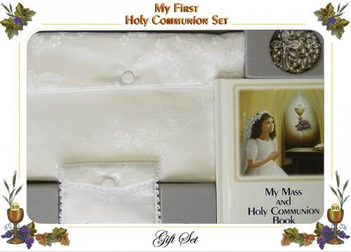 First Communion Gift Set Cathedral Edition Girl Purse