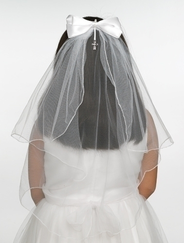First Communion Veil Jessica Comb Style