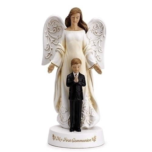 Statue First Communion Angle Boy 7.75 inch Resin