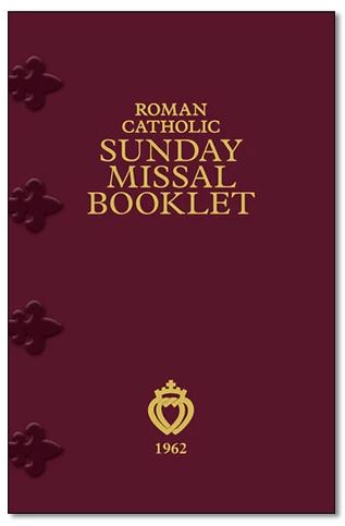 Latin-English Roman Catholic Sunday Missal Booklet Regular Print