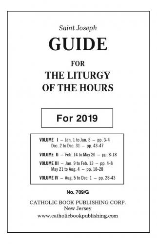 2019 Liturgy of the Hours Guide - Large Print