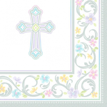Party Beverage Napkins Baptism First Communion
