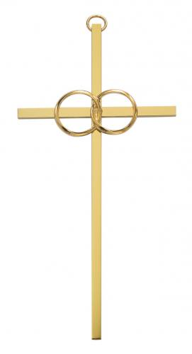 Cross Wall Wedding Rings Cana 6 inch Brass