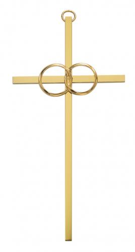 Cross Wall Wedding Rings Cana 8 inch Brass