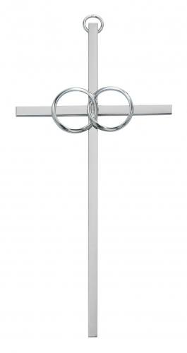 Cross Wall Wedding Rings Cana 10 inch Silver