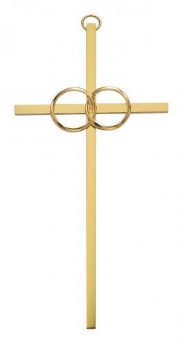 Cross Wall Wedding Rings Cana 10 inch Brass