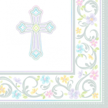 Party Luncheon Napkins Baptism First Communion