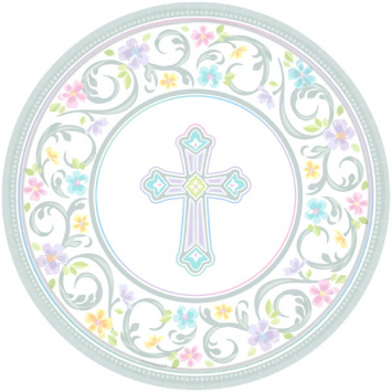 Party Plates Large Baptism First Communion