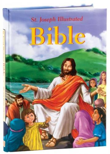 St Joseph Illustrated Bible Padded Hardcover