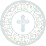 Party Plates Medium Baptism First Communion