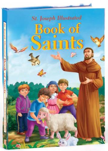 St Joseph Illustrated Book of Saints Padded Hardcover