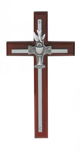 Cross Wall RCIA 7 inch Silver Inlaid Cherry