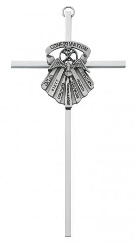 Cross Wall Confirmation Gifts Spirit 6 inch Silver