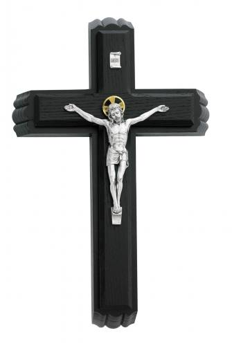 Crucifix Sick Call 13 inch Black Silver Corpus
