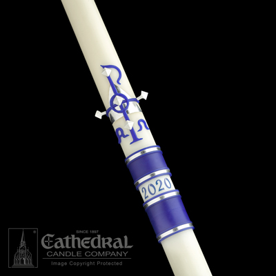 "Paschal Candle 1-15/16"" x 36"" Messiah Size 4"