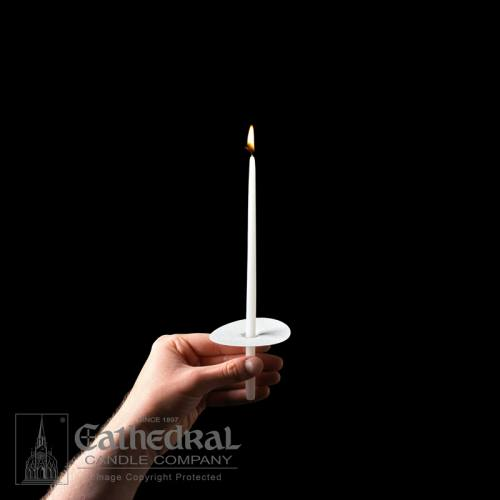 Congregational Taper Votive Candle With Bobeche 100 Count 9""