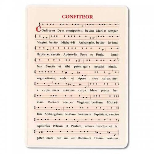 Confiteor Chant Card