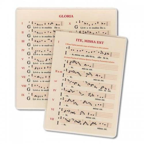 Small Intonation Cards (Gloria, Credo, Ite Missa Est)