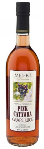 Meier's Still Pink Catawba Grape Juice Mustum Bottle