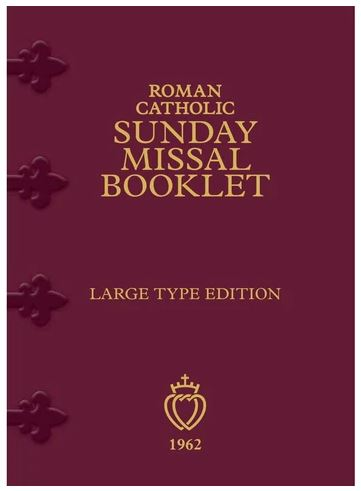 Latin-English Roman Catholic Sunday Missal Booklet Large Print