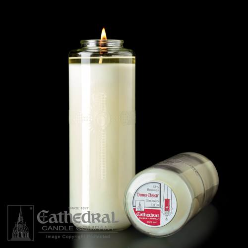8-Day Domus Christi Sanctuary Candle 51% Beeswax Case of 12