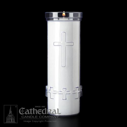 Cemetery Memorial Light Outdoor 7-Day Candle Refill Case of 24